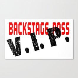 VIP BackStage Pass Canvas Print