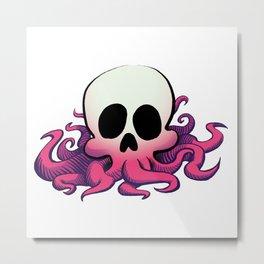 Squid Skull Metal Print