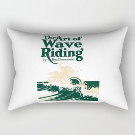 The Art of Wave Riding 1931, First Surfing Book Artwork, for Wall Art, Prints, Posters, Tshirts, Men, Women, Kids Rectangular Pillow