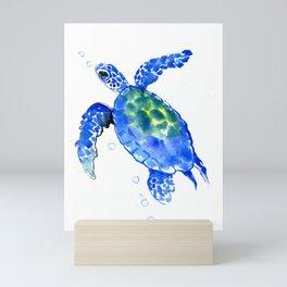 Blue Sea Turtle Mini Art Print