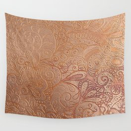Floral copper Wall Tapestry