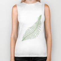 fern Biker Tanks featuring fern  by Bonnie Durham