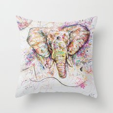Elephant // Sananga Throw Pillow