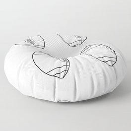American Football Ball Spinning Sequence Drawing Floor Pillow