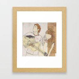 She & Him Framed Art Print