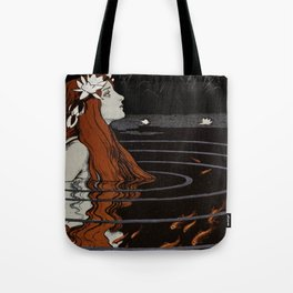 Franz Heinz illustration from Die Rheinlande - 1900 Magical Mermaid Mistical Fish Tote Bag