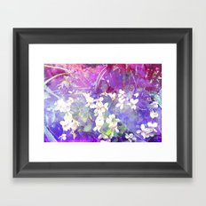 VIOLETS FLOWERS ON A DREAM Framed Art Print