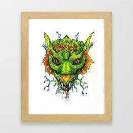 Green Mind Monster Framed Art Print