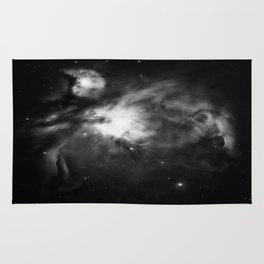 Orion Nebula Black & White Gray Rug