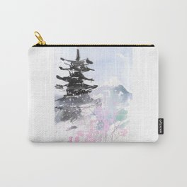 Sumie No.10 Pagoda and Mt.Fuji Carry-All Pouch