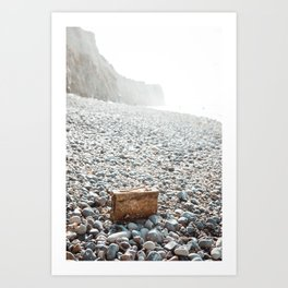 Canister washed up on the beach Art Print