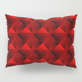 Optical pigtail rhombuses from red squares in the dark. Pillow Sham