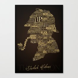 Sherlock Holmes The Canon Canvas Print