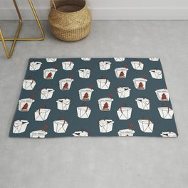 Rice takeout chinese food container new york style chinese food pattern Rug