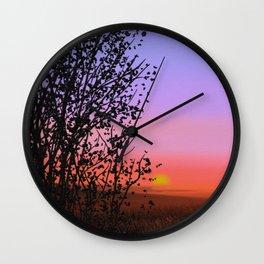 Sunset A8 Wall Clock