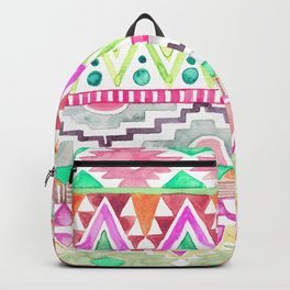 Watercolor Aztec Pattern Pink Backpack