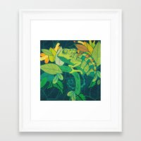 chameleon Framed Art Prints featuring Chameleon by Arcturus