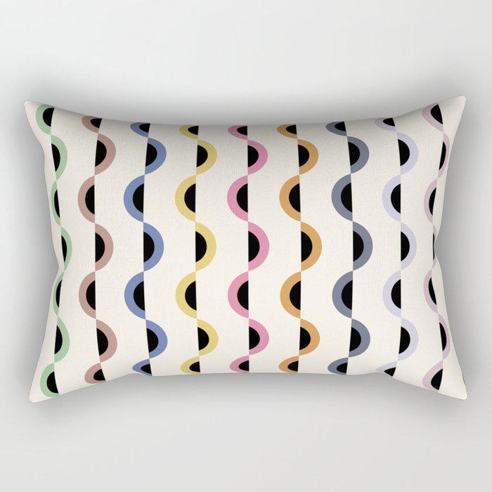 Gwynne Pattern - Retro Tones Rectangular Pillow