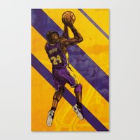 kobe Canvas Prints featuring Kobe Bryant: BLACK MAMBA by Maddison Bond