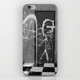 Graffiti noir et blanc iPhone Skin