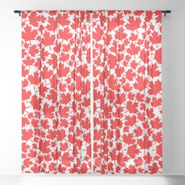 Canadian fall / Canadian flag maple leaf pattern Sheer Curtain