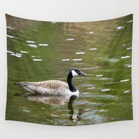 canada Wall Tapestries featuring Canada Goose by Christina Rollo