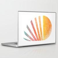 ed sheeran Laptop & iPad Skins featuring Raising sun (rainbow-ed) by Picomodi