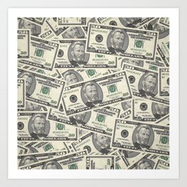 Collage of Currency Graphic Art Print
