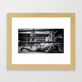 That hurt has he gone yet Framed Art Print