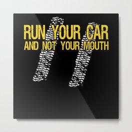 Motorsport Fan Mechanic Drag Racing Racing Car Metal Print
