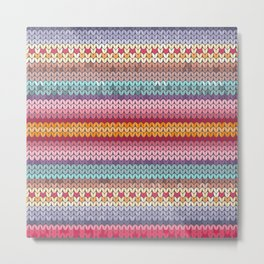 knitting pattern Metal Print