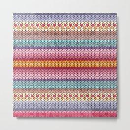 knitting pattern Metal Print