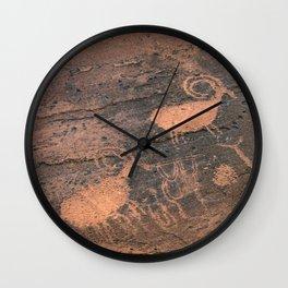 Desert Rock Art - Petroglyphs - II Wall Clock