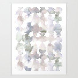 Dye Ovals Muted Art Print