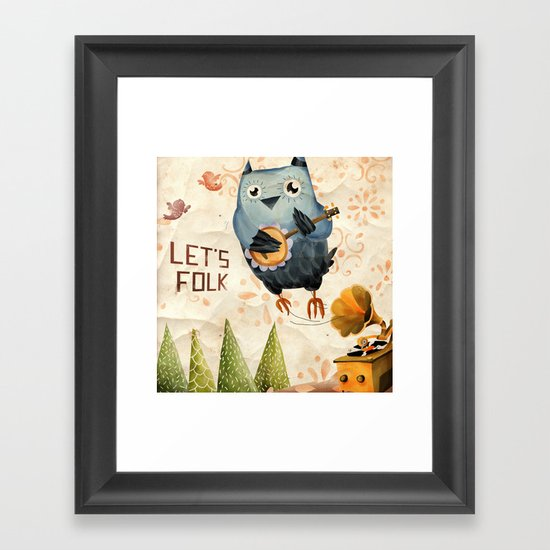 Let's Folk! Framed Art Print