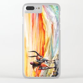 """Sunset"" Clear iPhone Case"