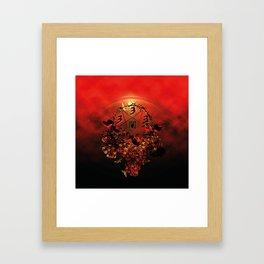 half evil pentagram Framed Art Print
