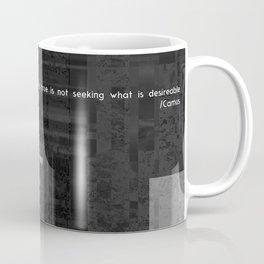 EXIT: existentialist quotes, Camus Coffee Mug