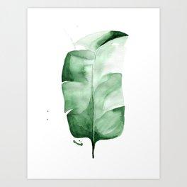 Banana Leaf no. 3 Art Print
