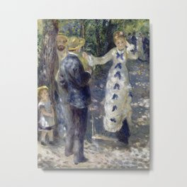 Pierre-Auguste Renoir - The Swing Metal Print