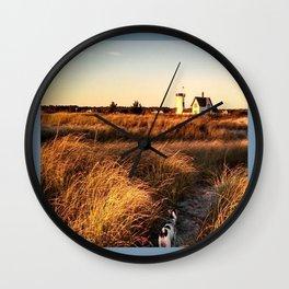 Hardings Beach Light House Wall Clock