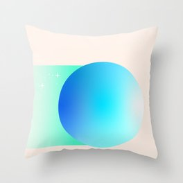 The Vaulted Sky of Uranus Throw Pillow