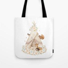 Spring Teepee Tote Bag