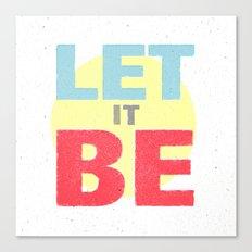 Let It Be Canvas Print