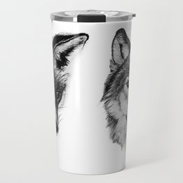 Vulpes vulpes, canis lupus Travel Mug