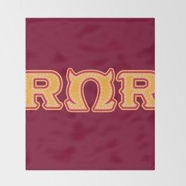 Monster University Fraternity : Roar Omega Roar Throw Blanket