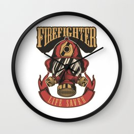 Firefighter life saver Wall Clock