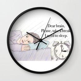 Dear brain! Wall Clock