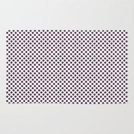 Wineberry Polka Dots Rug