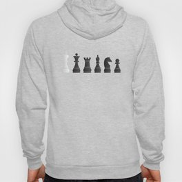 All black one white chess pieces Hoody
